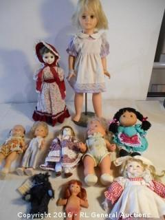 """Large 1950's Eegee Doll 25"""" Tall on Stand +"""