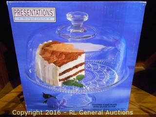 New Presentations Cake Plate w/ Lid
