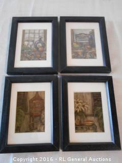 """Set of 4 Artwork Prints 6"""" W X 8.25"""" T"""