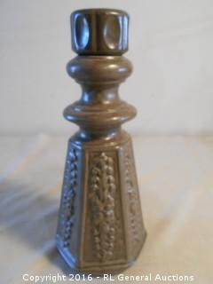 "Vintage Pottery Decanter w/ Stopper 11.5"" Tall"