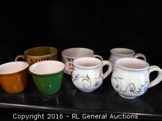 2 Soup Cups, 2 Chefsware Ingredient Bowls, 3 Pottery Cups