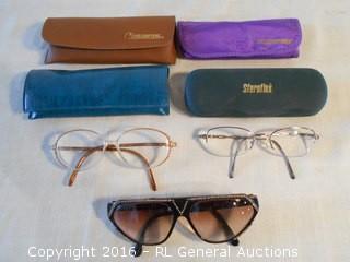 Vintage Reading Glasses & Glass Cases