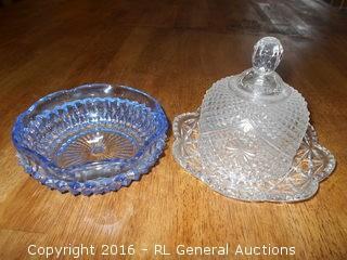 """Vintage Glassware 5.25"""" Dia. & 6"""" Dia."""