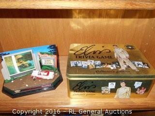 "Elvis Presley Matchbox Collectibles ""Viva Las Vegas"" Drive In Movie w/ 3D Screen & Elvis Trivia Collector's Edition w/ over 200 Photos"