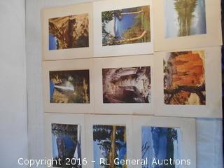 "Collection of 6.5"" X 9"" Photos Ready to Frame - Mount Lassen, Mesa Verde, Carlsbad Caverns, Crater Lake, Bridalveil Fall +"