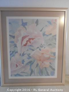 """Large Signed Print 24"""" W X 27.75"""" T"""