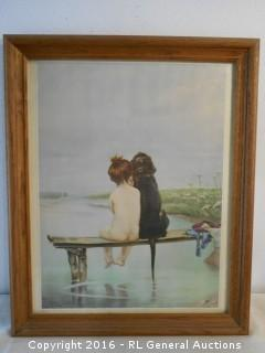 "Vintage Artwork Print by Piglhein  18"" W X 22.25"" T"