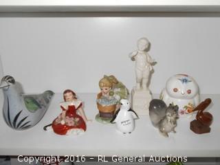 Vintage Decoratives Lot - Ynez Ward, Lenwile Ardalt Artware +