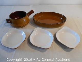 3 HF Coors Chefsware Bowls #70H Inglewood, CA & Pottery