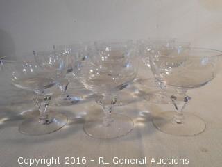 Set of 9 High End Stem Glasses
