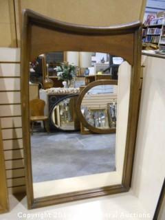 "Large Mid Century Mirror 28.5"" W X 46"" T"