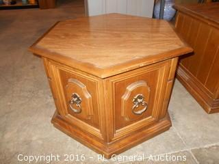 "Side Table / End Table w/ Cabinet 26"" W X 29"" D X 19"" T"