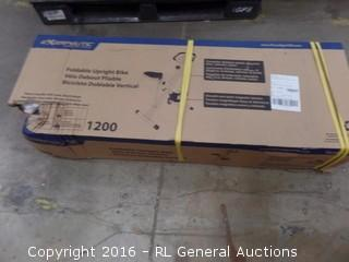 Exerpeutic Foldable Upright Bike Pacage Damaged New in Box
