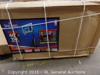 Spalding Portable Basketball System package Damaged New in Box