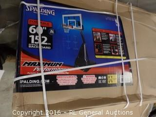 Spalding Portable Basket ball System Package Damaged New in Box