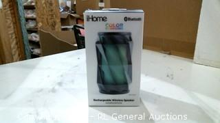 iHome Rechargeable Wireless Speaker Powers on Please Preview