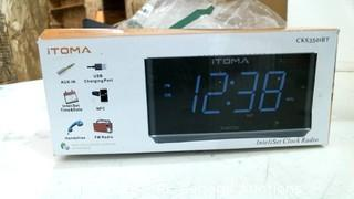 iToma InteliSet Clock radio Powers on Please Preview
