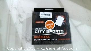 design City Sports wireless Bone Conduction Headphones
