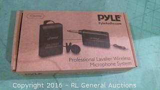 Pyle Professional Lavalier Wireless Microphone System