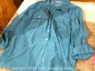 XL Button Down Shirt- Missing Button