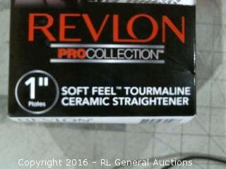 "Revlon Pro Collection 1"" Soft Feel Tourmaline Ceramic Straightener"