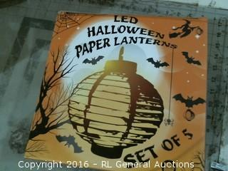 LED Halloween Paper Lantern