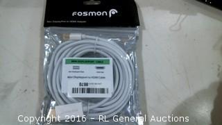 Fosmon Mini Display Port to HDMI Adapter