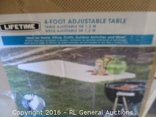 4 Foot Adjustable Table