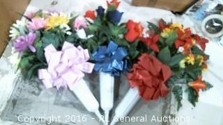 Memorial Crosses & Flowers