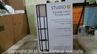 Square Shelf Floor Lamp