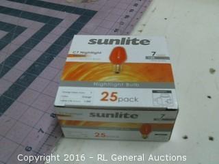 Sunlite Nightlight bulbs orange