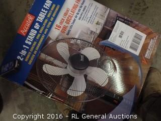 2 in 1 Table Fan