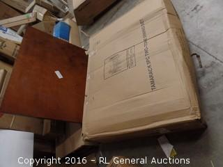 North Crest Two tone dining Set/ Table outside box- may be missing parts  Please Preview