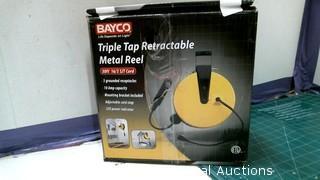 Bayco Triple Tap Retractable Metal Reel