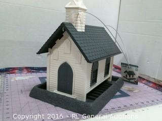 White Church Bird Feeder