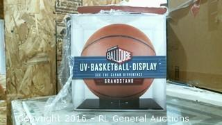 Basketball Display Case/ cracked see pics