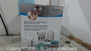 eco pure Reverse Osmosis Premium drinking water filtration system