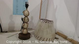 Baseball Lamp and Shade