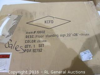 Floor Standing Sign
