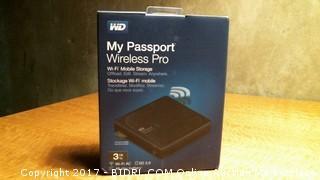 WD My Passport Wireless Pro Wifi Mobile Storage - Powers On