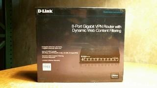 D-Link 8-Port Gigabit VPN Router with Dynamic Web Content Filtering