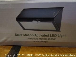 Solar Motion Activated LED Light