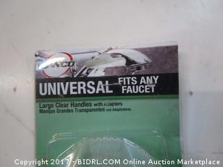 Universal clear faucet handles