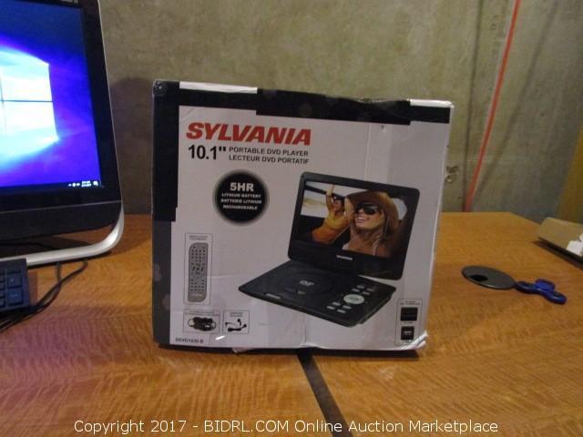 3fa8c6b4e2 COM Online Auction Marketplace - Auction: Electronics Online Auction -  (August 21) 221 Richards Blvd ITEM: Sylanvania Portable DVD Player Powers  on Please ...