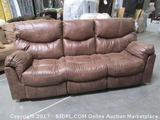 Signature Recliner Sofa MSRP $1900.00 Please Preview