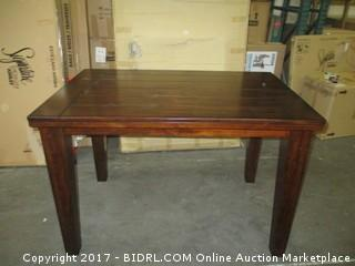 Signature Table Counter Height MSRP $1200.00 Please Preview/ Scratch at corner