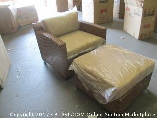 Outdoor Chair and Ottoman Please Preview