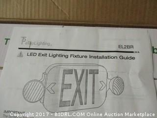 Lighted Exit Sign