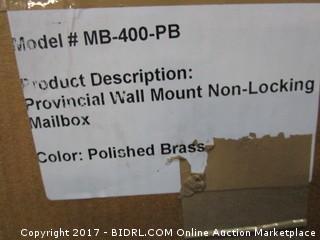 Wall Mount Non Locking Mailbox
