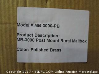 Post Mount Rural Mailbox